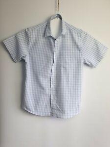 Men-039-s-Rivers-Blue-Short-Sleeve-Summer-Check-Shirt-Relaxed-Size-XL