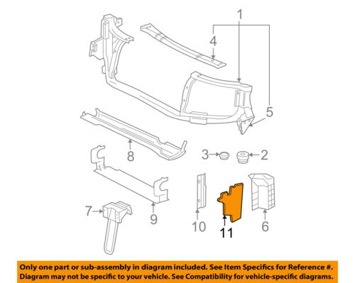 GM OEM Radiator Core Support-Rear Deflector 10380463
