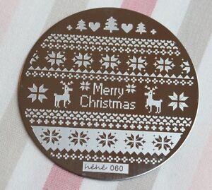 Nailart-Stempel-Schablone-Weihnachten-Schneeflocke-ugly-sweater-Pullover-hehe60