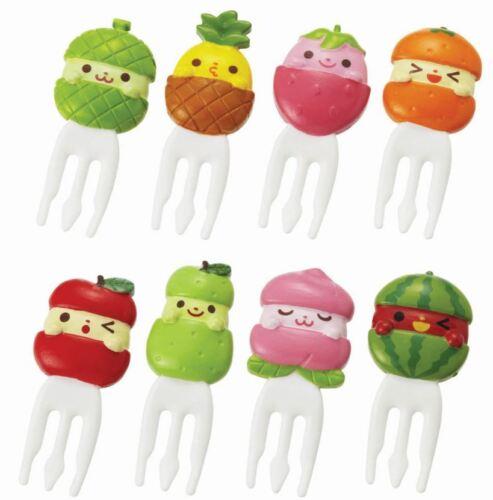 P-3124 Torune Lunch Bento Food Fork Picks 8pcs Fruits Melon Apple Peach