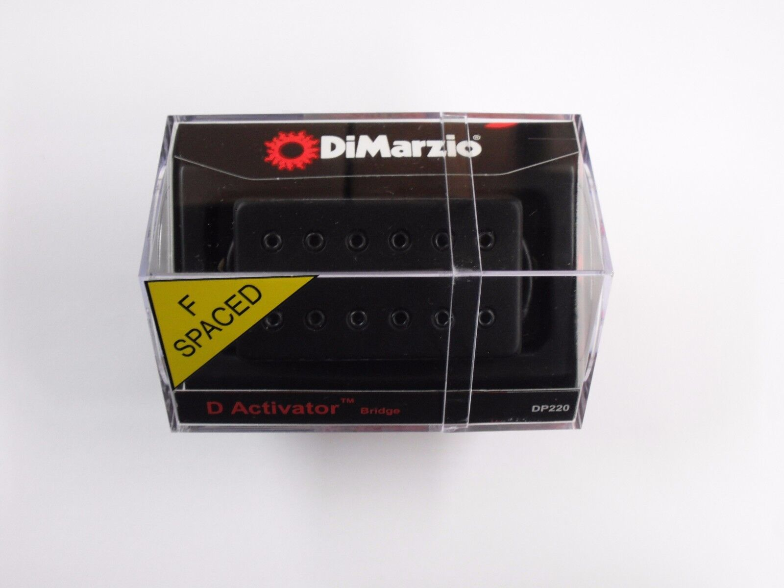 DiMarzio F-espaciados D Activator puente Humbucker Negro Con Con Con Cubierta Negra DP 220  más orden