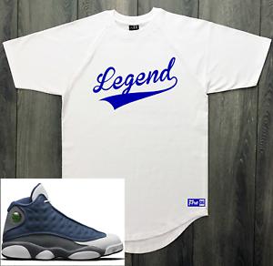 T Shirt To Match Air Jordan 13 Flint Gray Blue White Legend