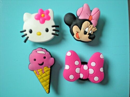 Clog Shoe Charm Plugs Bands Belts Minnie Mouse Hello Kitty Lot