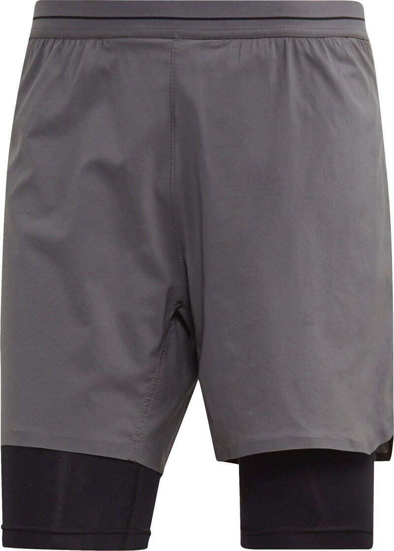 Adidas Herren Terrex Agravic 2in1 Shorts TrailLaufen neu & OVP Gr. L dunkelgrau