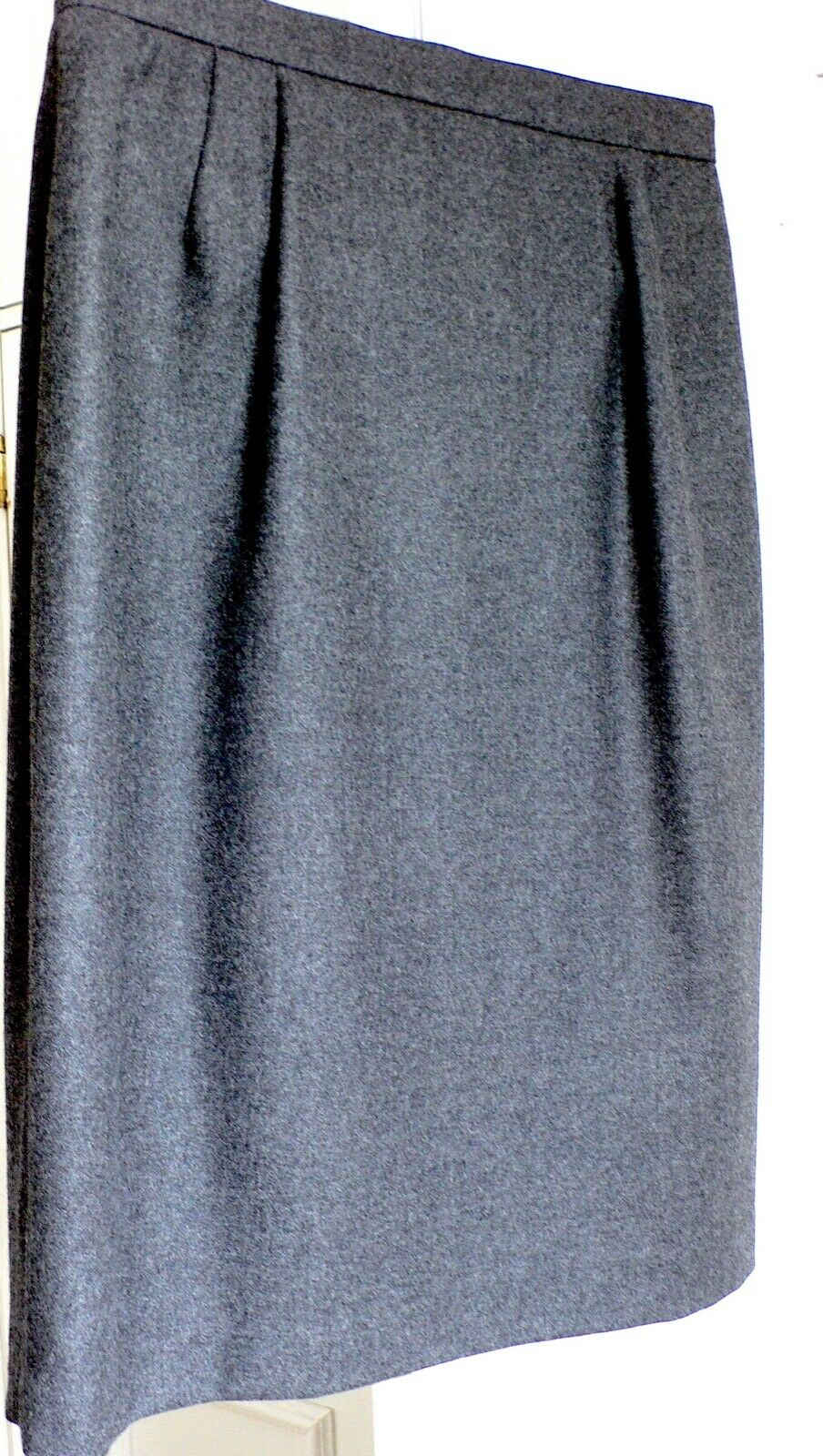 Emanuel UNGARO Paris Wool Pencil Skirt 12 Grey – FREE UK P&P