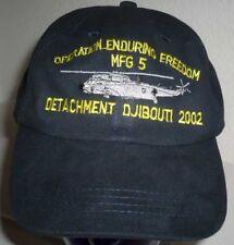 Bundesmarine:Baseballcap:MFG 5 OEF Djibouti 2002 blau. 3 Stück