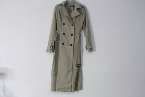 Breasted Stone 2 Us Longline Missguided Størrelse Coat Trench Double A0n1gTW5