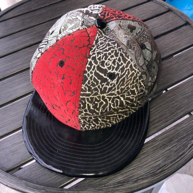 size 40 11d36 b5bcb Vintage Authentic Nike Air Jordan Jumpman Leather Fitted hat cap
