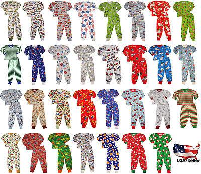 Sara/'s Prints Boys Girls Unisex Kids Long Sleeve 2 Piece Pajama Set