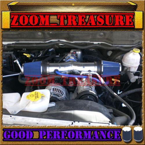 BLUE DUAL 2004-2012//04-12 JEEP LIBERTY 3.7L V6 TWIN AIR INTAKE KIT