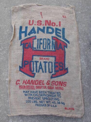 "24/"" x 40/"" Used Burlap Potato Sack//Bag Rat Rod 1 Qty Sack Race Feed//Seed"