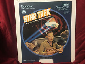 Vintage-RCA-Videodisc-Video-Disc-1967-Star-Trek-The-Trouble-With-Tribbles-Art