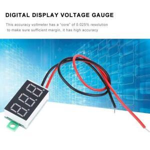 5x-Mini-0-36-034-Blue-DC-3-30V-LED-Panel-Voltmeter-3-Digital-Display-Voltage-Meter