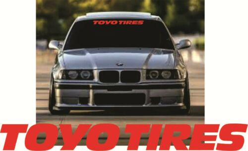 Sticker for TOYO TIRES Vinyl  Decal  Screen for Audi Mercedes BMW Opel ALL