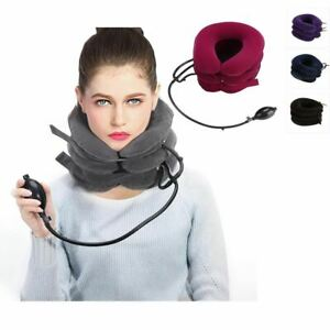 Cou-cervical-traction-dispositif-gonflable-col-tete-Derriere-l-039-epaule-douleur-au-cou-Hea