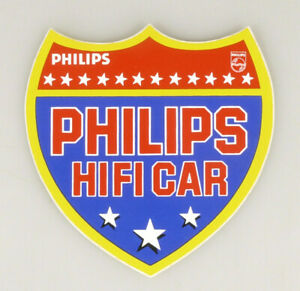 PRL) PHILIPS HIFI CAR ADESIVO COLLEZIONE STICKER COLLECTION AUTOCOLLANT ADESIVI