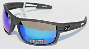 8be3bd882c76 Image is loading UNDER-ARMOUR-Captain-POLARIZED-Sunglasses-Black-Blue-Storm-