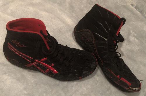 Asics Rulons Wrestling Shoes Size 6.5 Black & Red