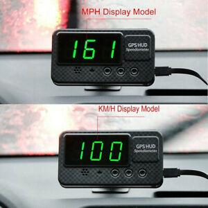 Head-Up-Display-Hud-Interno-GPS-12V-LED-Digitale-Speedo-Speed-Allarme-Bus-Camion