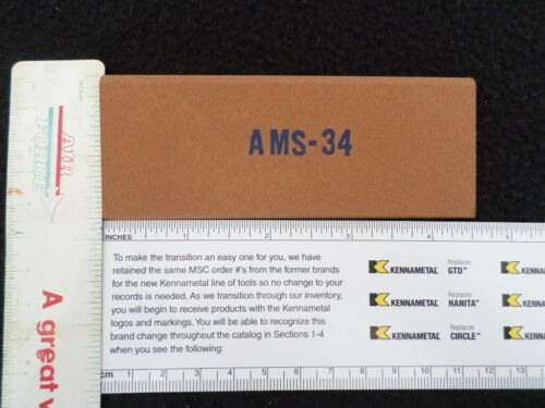 AMS-34 Alum Oxide Med 220 Grit Slip Stone 1-3//4 x 4-1//2 Sticks /& Stones Unltd
