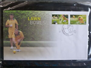 AUSTRALIA-2012-SPORTS-LAWN-BOWLS-SET-2-STAMPS-FDC-FIRST-DAY-COVER