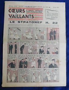 2019 DernièRe Conception Coeurs Vaillants 1938 N°33 - Hergé. Tintin. Le Mystère De L'avion Gris Gamme ComplèTe D'Articles