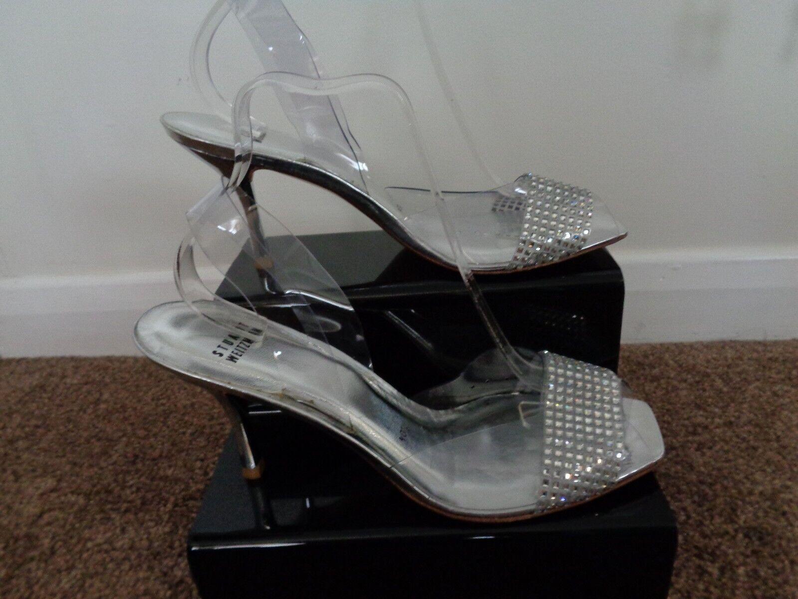 NUOVA & STUPENDA STUART WEITZMAN 7.5 sandali e diamante misura 7.5 WEITZMAN 1c146a