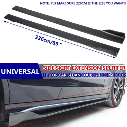 Side Skirts Extensions Lip For Honda Civic Accord Si Type-R 10th Gen Coupe