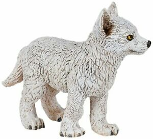 Papo-50228-Arctic-Wolf-Pup-Animal-Figurine-Model-Toy-NIP
