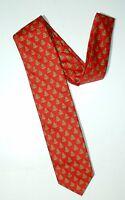 Holiday Traditions Hallmark Men's X'mas Tree Prints Red Tie 57 L 3.25 W