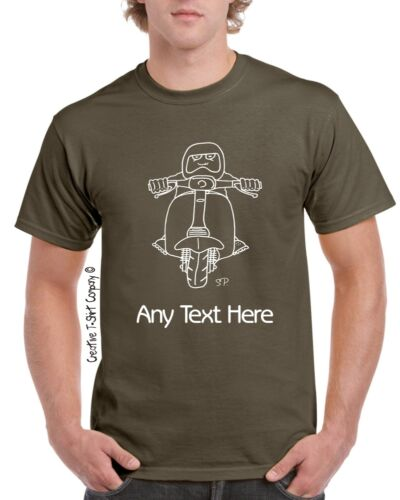 Great 4 Ride outs Personalised Retro Lambretta Scooter Rally or Club T-Shirt
