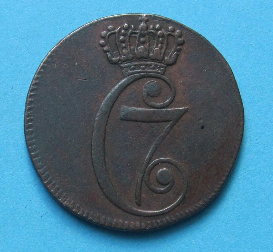 Danmark, mønter, ½ skilling