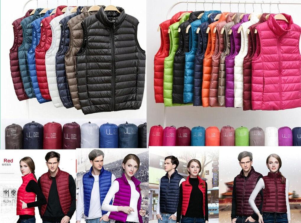 2018 Womens & amp;Férfi 90% -os Duck Down Puffer Jacket Coat Ultralight Outdoor Vest