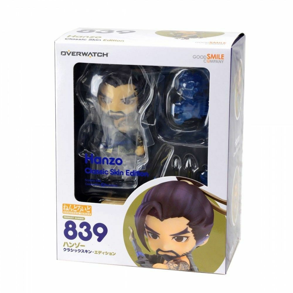 GOOD SMILE CO NENDOROID OVERWATCH HANZO CLASSIC SKIN ACTION FIGURE NEW AUTHENTIC