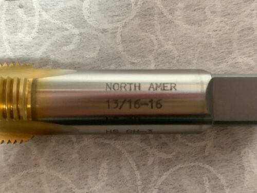 """NORTH AMERICAN 3 Flute 13//16/""""-16NS-3B GH3 #2Z8 Plug Tap Made in USA"""
