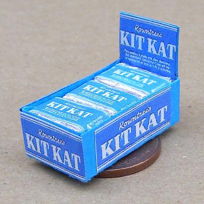 1940's Scatola Di Kit Kat Cioccolato Biscotto Pacchetti Tumdee Miniatura Casa Piacevole Nel Dopo-Gusto