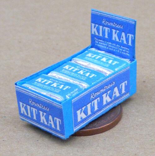 Década de 1940 Caja de Kit Kat Chocolate Galleta paquetes tumdee Casa De Muñecas En Miniatura