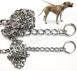 QUALITY-CHOKE-CHOKER-CHECK-CHAIN-FOR-PET-PUPPY-DOG-COLLAR-METAL-STEEL-CHROME