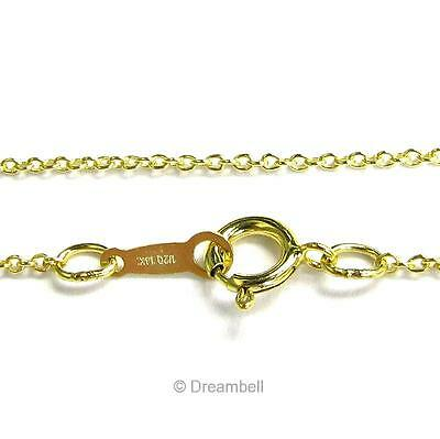 "Italian 14k Yellow Gold Filled Rolo Cable Chain Necklace 16"" / 18"" / 20"""