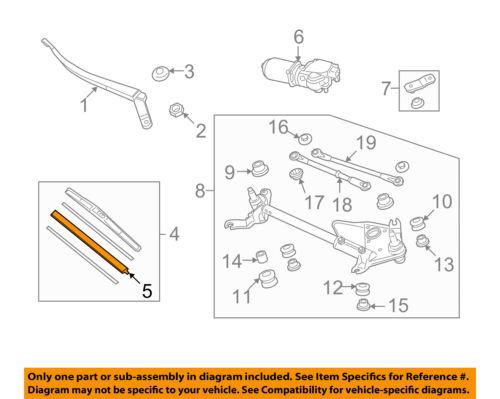 HONDA OEM Accord Wiper Washer-Windshield-Wiper Blade Refill Right 76632TA0A02