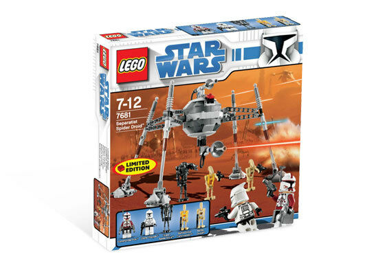 BRAND NEW LEGO Star Wars The Clone Wars SEPARATIST SPIDER DROID 7681