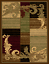 Wreath-Leaf-Brown-Beige-Area-Rug-Turkish-Style-Carpet-Mat-All-Sizes thumbnail 1