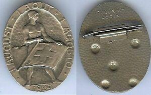 Insigne-de-journees-14-18-SUISSE-1-aout-1929-fete-nationale-HUGUENIN