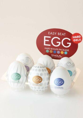 Hard Boiled Set of 6 Variety Pack 2 Tenga Egg Variety