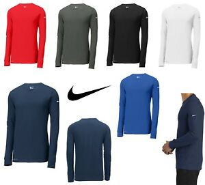 MEN'S NIKE DRI Fit, Wicking, Long Sleeve, CottonPoly Crew