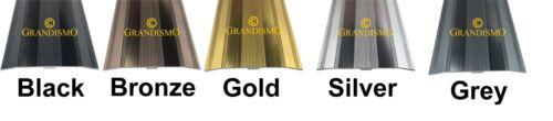 Tapis Et Revêtements De Sol Porte Barres multi couleur 90 cm /& 2.7 M métal Seuil Bandes