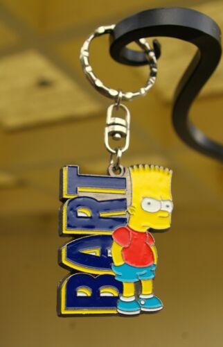 The Simpsons Tough Bart Metal Enamel Keychain 2000 Matt Groening Fox