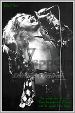 Robert Plant Poster Print 1 Led Zeppelin Portrait Quote Photo Music Happiness