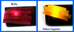 Best Deal Yellow Sapphire & Ruby 600 Ct 10 Pcs Gemstone Slice Rough Lot Natural