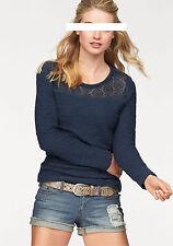 AJC Sweatshirt mit Einsatz aus Spitze, Gr.42, 100% Baumwolle, neu